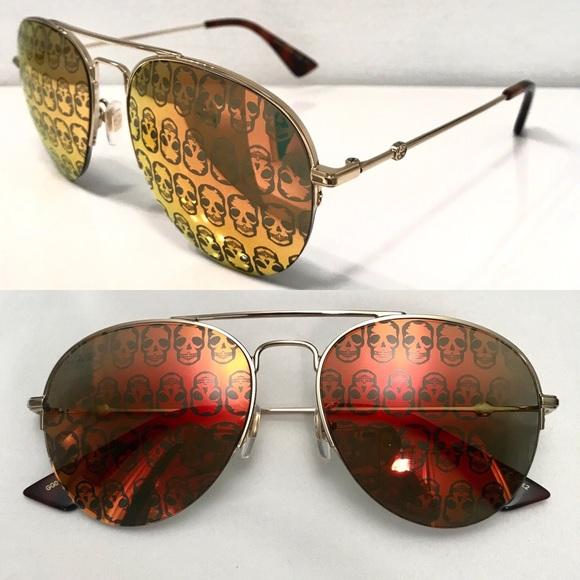 73bec84c74 Gucci skull aviator sunglasses